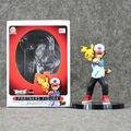 Japanes Anime Pikachu Ash Ketchum PARCEIROS de PVC FIGURA Coleção Modelo Crianças Brinquedos Boneca Da Moda 13.5 cm