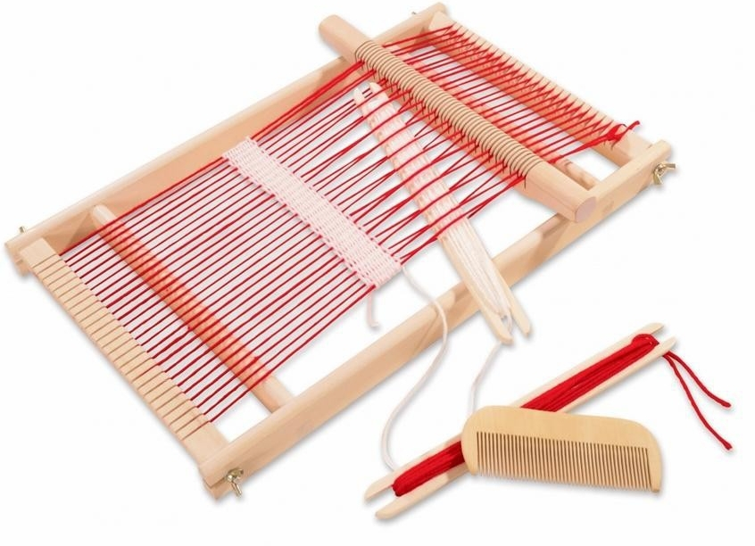 Free Shipping!Baby Toy Multi-Craft Weaving Loom Child Pretend Play Educational Toy Wooden Toy gift for girl