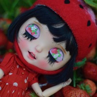 1/6 BJD 30CM Doll toys 19 joint Top Quality Chinese Doll BJD Ball Joint Doll Black short hair Cute strawberry make up doll