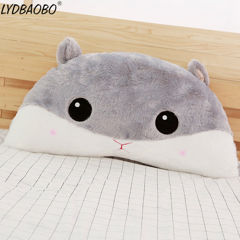 LYDBAOBO 1PC 45CM Cute Mouse Hamster Plush Doll Stuffed Cotton Pillow Cushion Doll Animal Bed Cushion Sleeping Pillow Baby Gifts cute boobs penis sytle plush pp cotton pillow sexy cushion doll toys birthday present