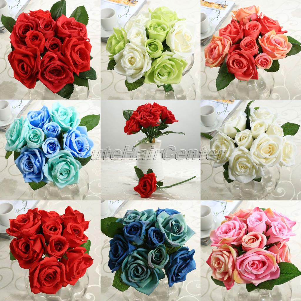 Silk flower distributors promotion shop for promotional silk 2016 hot new 8pcs artificial silk flowers roses posy wedding bridal bouquet flowers home decor decoration flowers gifts dhlflorist Choice Image