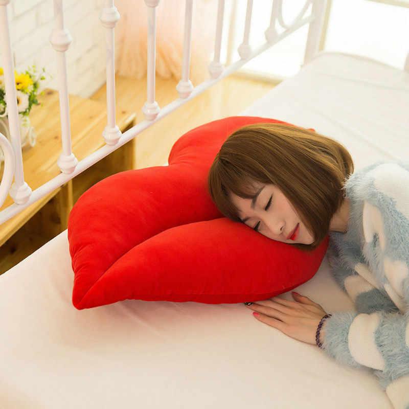 30 cm créatif rose rouge lèvres forme coussin maison décoratif jeter oreiller canapé taille coussin maison Textile coussin