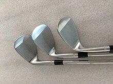 Marka yeni SM7 kama SM7 Golf kama gümüş SM7 Golf kulüpleri 48/50/52/54/56/58/60/62 derece çelik mil ile golf sopası kılıfı