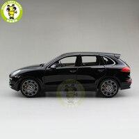 1/18 Minichamps Cayenne Turbo S 2014 внедорожник литья под давлением автомобиля Модель Игрушки для мальчиков и девочек подарок черный