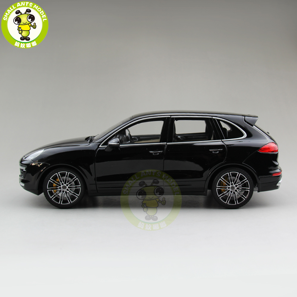 1/18 Minichamps Cayenne Turbo S 2014 SUV Diecast Car SUV Model Toys Boy Girl Gift Black 1 18 honda vezel suv diecast metal suv car model toys girl boy gift collection hobby black