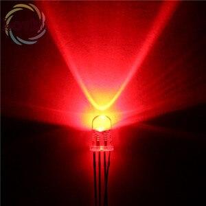 Image 4 - 50 قطعة/الوحدة عالية الجودة 5 مللي متر شفافة Connon الأنود والكاثود الأحمر الأخضر الأزرق RGB LED 4 دبابيس ثنائيات ثلاثية اللون