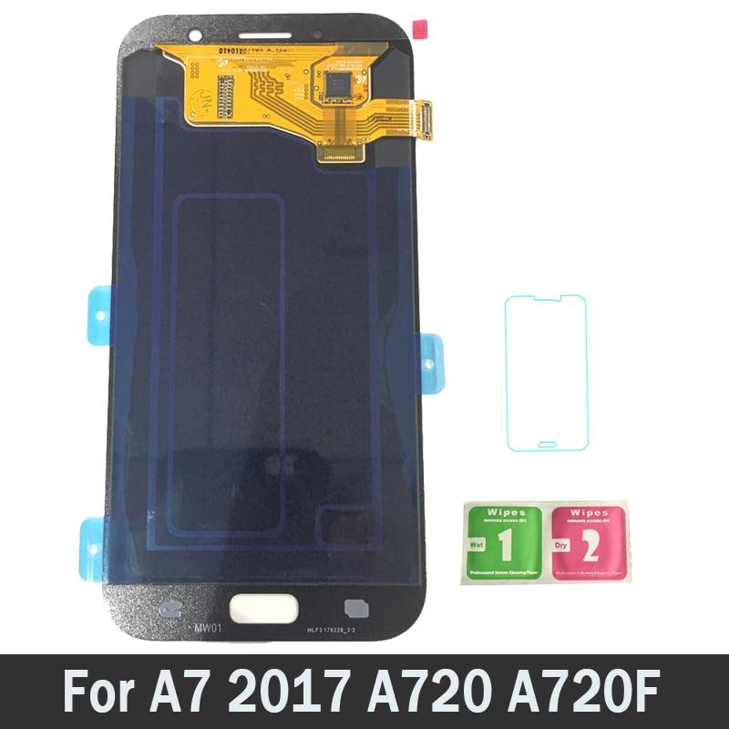 Haute Qualité AMOLED LCD Pour Samsung Galaxy A7 2017 A720 A720F A720M LCD Écran D'affichage Tactile Digitizer Assemblée Pièces