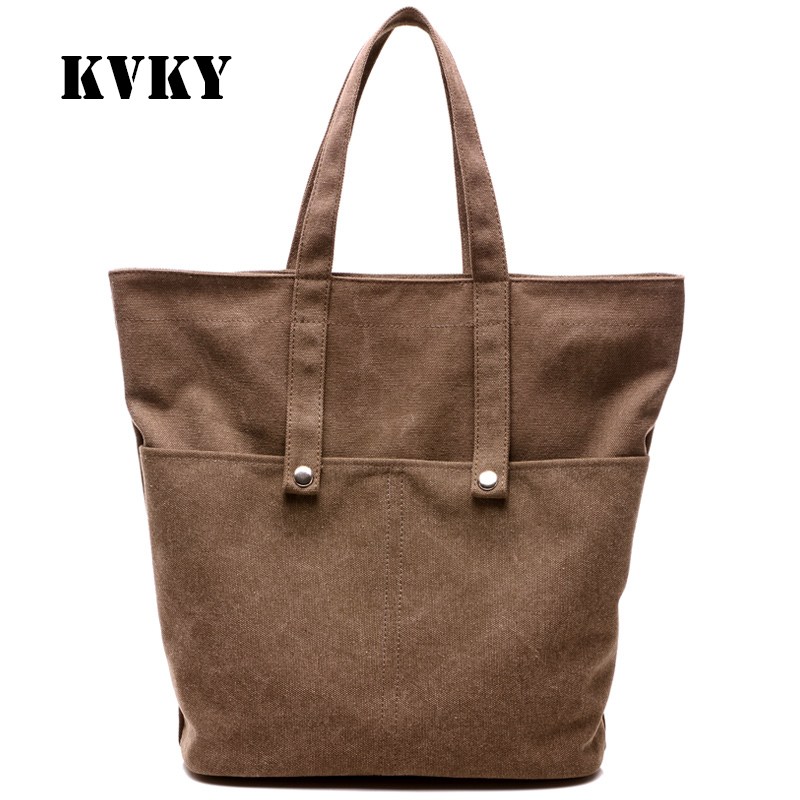 Sky fantasy canvas solid women shoulder bag vogue fashion casual youth girls tote versatile popular classic Korean style handbag popular handbag women simple shoulder bag vintage hand bag retro korean style 3 classic color satchel bag leisure locomotive bag