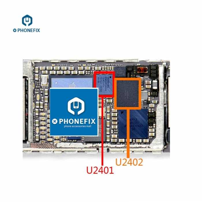 detailed look 319ca 8c894 White / Black touch screen control IC 343S0694 BCM5976 U2402 U2401 for  iPhone 6 6Plus motherboard Circuit Board Repair