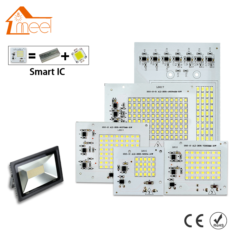 SMD <font><b>LED</b></font> Lamps <font><b>Chip</b></font> 220V Smart IC 10W 20W 30W 50W <font><b>90W</b></font> <font><b>LED</b></font> <font><b>Chip</b></font> Bulb For Outdoor FloodLight Cold/Warm White image