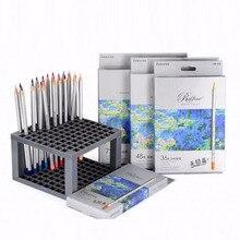 Продажа Бесплатная доставка 7100 цветной карандаш professional живопись/жирной/жестяной коробке/24 48 72 цвета lapices де colores faber castell/M16017