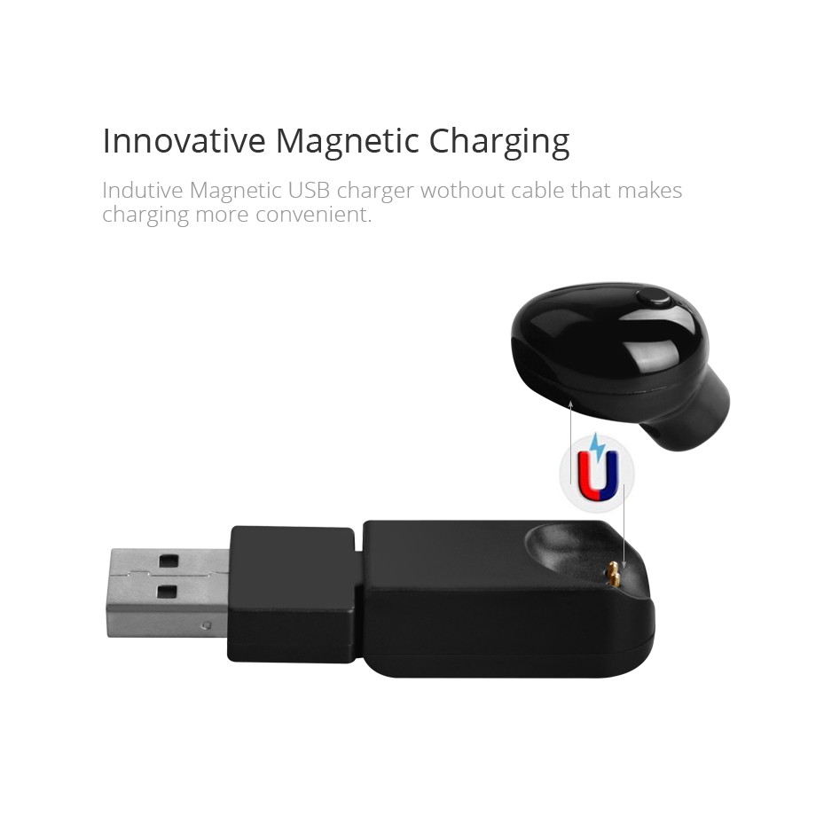 bluetooth earphones mini wireless earbud with mic handsfree in ear magnetic charger earpiece. Black Bedroom Furniture Sets. Home Design Ideas