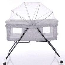 Multi-function Baby Cribs Newbaby Bassinet Portable Bed Infant Travel Sleeper Portable Cot Breathable Folding Cribs цена в Москве и Питере