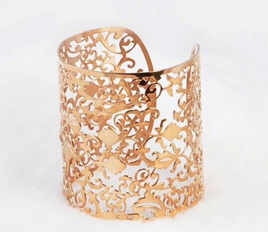 Vintage Bracelets Women Style 18k Rose Gold Cuff Bracelet