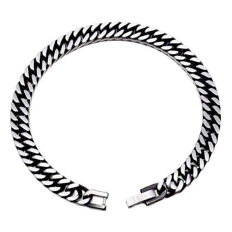GOKADIMA 2018 nieuwe stijl antieke afgewerkte roestvrijstalen ketting - Mode-sieraden - Foto 6