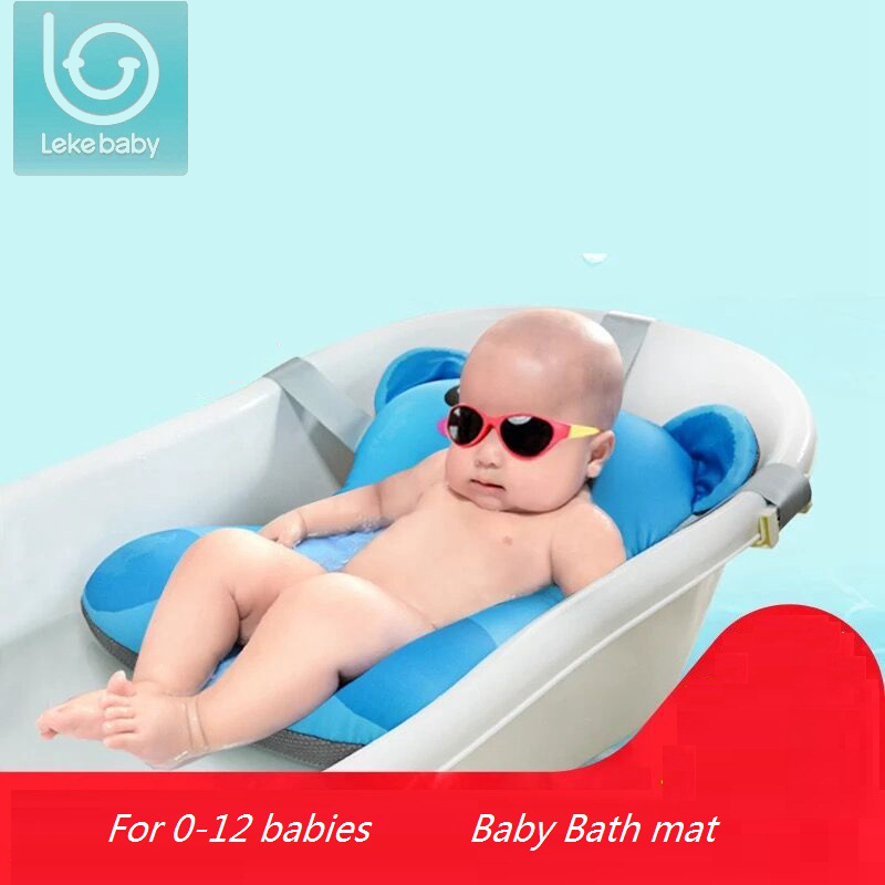 Newborn Bath Floating Pad Mat Baby Bath Tub Pad & Chair & Shelf Bathtub Seat Infant Support Cushion Mat Bath Mat Toddler Bloom