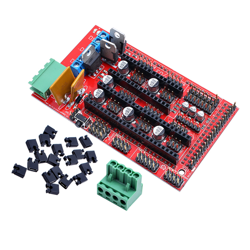 1set RAMPS 1.4 Control Board Panel Part Motherboard 3D Printers Parts Shield Red Black Controls Ramps1.4 Boards Accessories