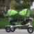 Aço carbono de alta Qualidade quadro gêmeos triciclo 3 roda triciclo assento duplo de borracha preenchido com rotação de ar assento