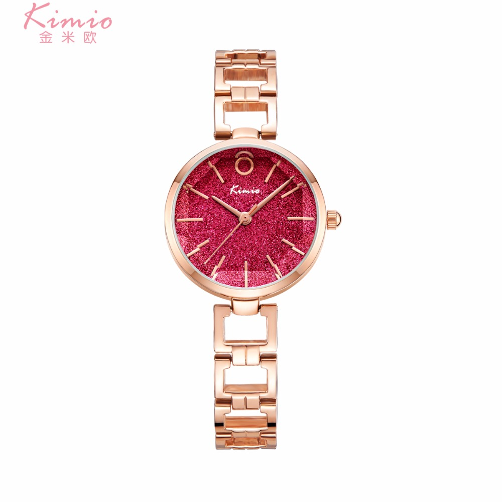 KIMIO New Fashion Luxury Women Bracelet quartz watch Analog Crystal Watches female Ladies girl Dress wristwatch Relogio with box kimio new fashion leather strap women quartz casual bracelet watch clock female ladies girl dress wristwatch relogio and box