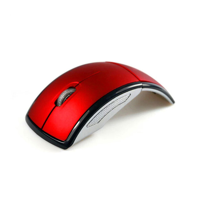 New 2.4G Wireless Mouse Foldable Computer Mouse Mini Travel Notebook Mute Mouse USB Receiver for Laptop PC