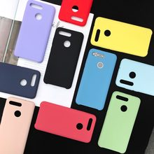 Liquid Silicone Case For Huawei Honor V20 V10 8X Soft Gel Rubber High quality Back Cover Case For Honor 9 10 Lite P Smart 2019(China)