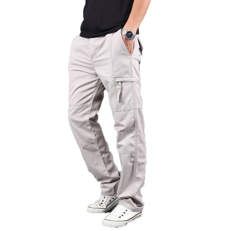 Summer Men's Military Tactical Pants Men's Trousers Cotton Overalls Casual Straight Pants Trend Multi-Pocket Outdoor Pants