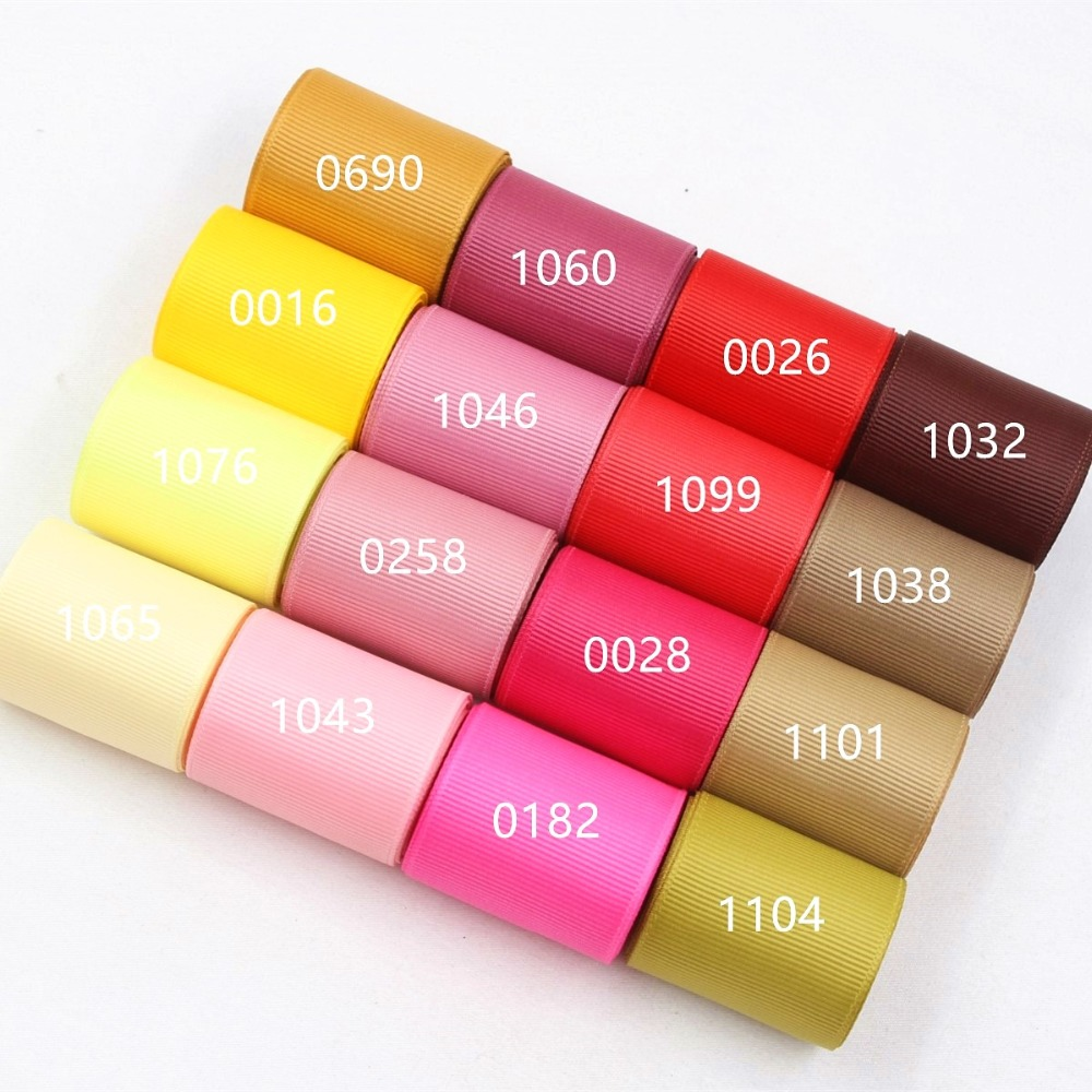 169196 , 38mm Solid Color Grosgrain Ribbon 10 yards , DIY handmade clothing accessories , Jewelry & Accessories(China)