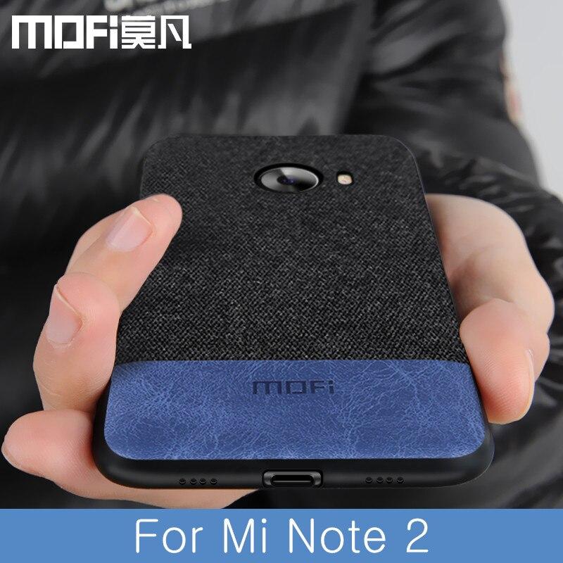 Para xiao mi nota 2 caso capa à prova de choque capa traseira tecido pano capa protetora de silicone capas mofi original note2 caso