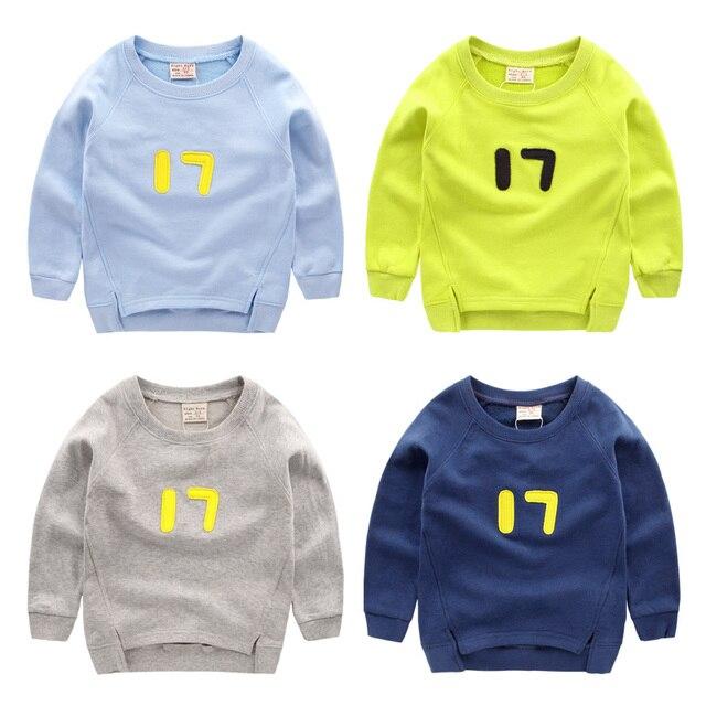 2017 весной новый приход подросток большой мальчик девочки дети толстовка письма baby дети пуловеры одежда для активного up05