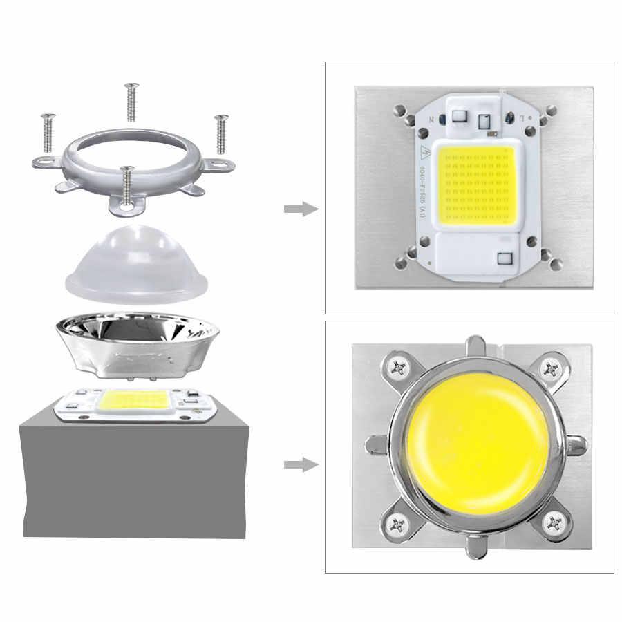 44 мм оптические светодиодные стеклянные линзы набор 60/120 градусов + 50 мм рефлекторный коллиматор + фиксированный кронштейн для прожектора высокой мощности COB светодиодный чип лампа