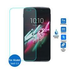 Tempered Glass Screen Protector Film CASE for Alcatel One Touch Pop 2 3/C3 C5 C7 C9/ Idol 3 4.7 5.5 /Pixi 3 3.5 4 4.5 5 5.5 аксессуар чехол alcatel idol 4 5 2 6055k cojess book case new red с визитницей