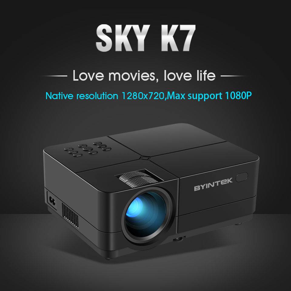 BYINTEK SKY K7 1280x720 LED Mini Micro Portable Video HD Projector with HDMI USB For Game Movie 1080P Cinema Home Theater (15)