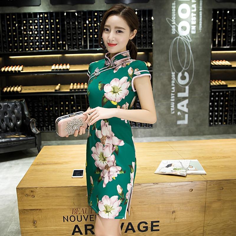 441addd0c Chinese Traditional Qipao Garments Women's Silk and Satin Evening Mini Dress  Ball Cheongsam S XXL-in Cheongsams from Novelty & Special Use on  Aliexpress.com ...