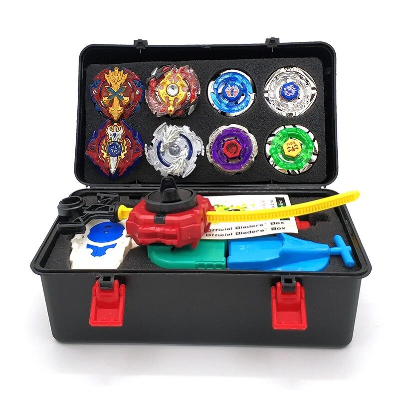 Toupie Beyblade Metal fusión Beyblades conjunto de almacenamiento superior Beyblade estalló bey blade lanzador Beyblade juguetes para niños niño