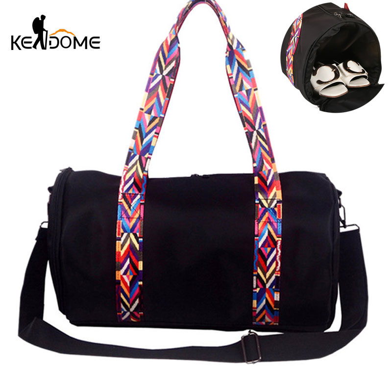NEW Sport Bag for Women Fitness Cylinder Shape Gym Yoga Mat Bag for Shoes Candy Color Webbing Shoulder Training Bag Tote XA399WD trendy zippers and candy color design women s tote bag