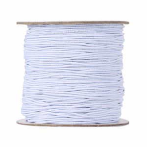 100m/roll 1mm Round Elastic Cord Rope String Thread Nylon Outside and Rubber Inside for Jewelry Making DIY Accessories Findings(China)
