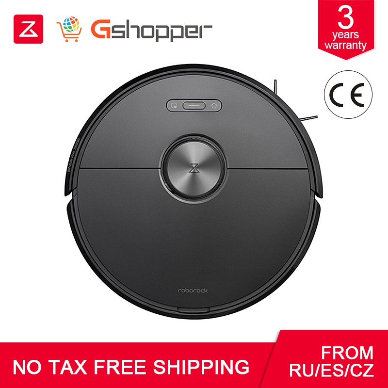 2019 Black Roborock S6 Robot Vacuum Cleaner Home Automatic Sweeping Dust Sterilize Smart Planned Washing Mopping w Odkurzacze od AGD na  Grupa 1