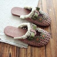 Sen Series Vintage Cotton And Linen Art Sandals Bohemian Handmade Original Shoes Baotou Slippers Summer Female