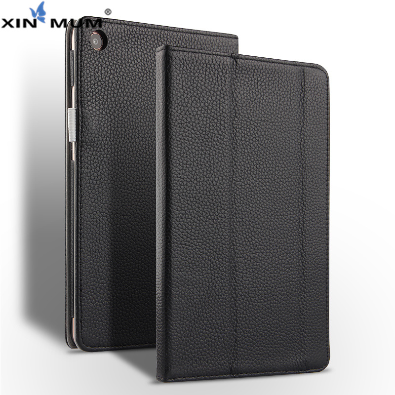 XIN-MUM étui en cuir véritable pour Xiao mi pad 4 Plus 10.1 ''étuis support magnétique couverture pour mi pad 4 mi pad 4 Plus étui + stylo