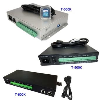 T-300K SD Card online T500K Full color led pixel module controller T600K RGB RGBW 8ports pixels ws2811 ws2801 ws2812b led strip