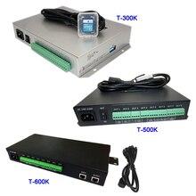 T 300K SD 카드 온라인 T500K 풀 컬러 led 픽셀 모듈 컨트롤러 T600K RGB RGBW 8 포트 픽셀 ws2811 ws2801 ws2812b led 스트립