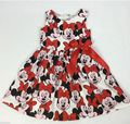 summer style  New Girl Cute mini sleeveless Dresses Kids Clothes Dress Cotton Children Lovely Red Cartoon Minnie Costume YAZ069F