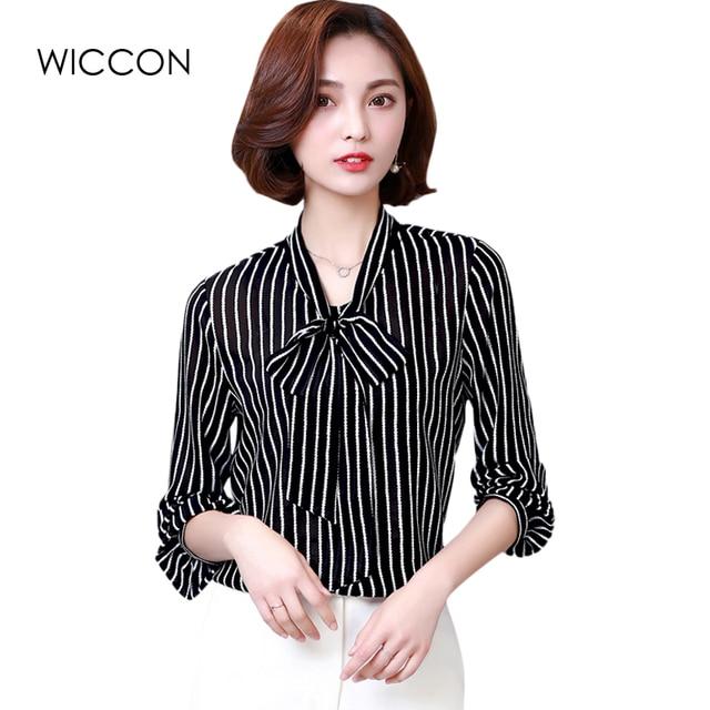dames blouse zwart wit gestreept