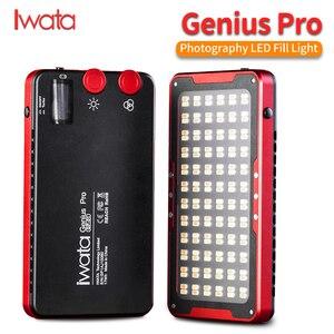 Image 1 - Iwata Gênio Pro GP 01 PRO 24 W 2600 K 6000 K Ajustável LED Luz de Preenchimento com Buit em bateria de lítio de Telefone Portátil CONDUZIU A Luz De Vídeo
