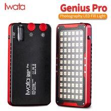 Iwata Genius Pro GP 01 PRO 24 W 2600 K 6000 K lumière de remplissage de LED réglable avec batterie au Lithium intégrée téléphone Portable LED lumière vidéo