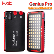 Iwata Genius Pro GP 01 PRO 24W 2600K 6000K Adjustable LED Fill Light with Buit in Lithium Battery Portable Phone LED Video Light