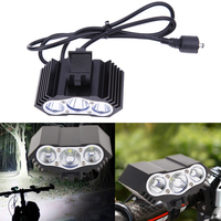 Outdoor Cycling 1PC T6 3 LED Lights Chargable Bike Bicycle Head Front Flashlight Bicycle Lights Lamps