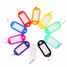 10 PCS Plastic Custom Split Ring ID Key Tags Labels Key Chains Key Rings Numbered Name Baggage Luggage Tags 50 in 1 assorted color plastic key id label name card tags keychains keyrings