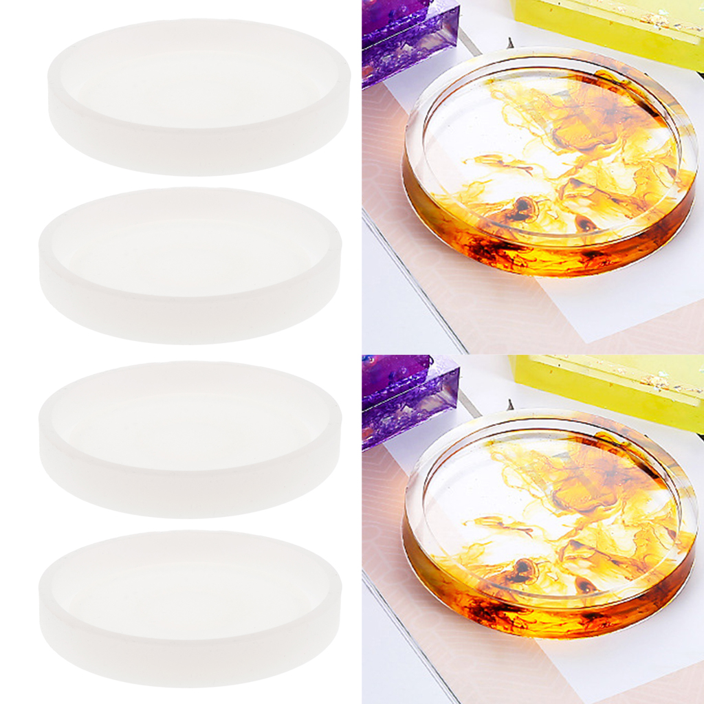 Decoration Table Mat Molds. Cup Mat Silicone Molds Circular Cup Tray Silicone Molds Dish Resin Craft Molds Geometry Cup Tray Resin Molds