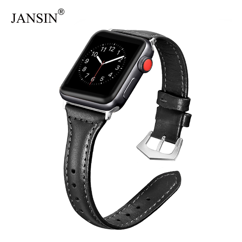 For Apple Watch Band 38mm 42mm,Genuine Leather strap for Iwatch Series 3 2 1 Bracelet watch band Stainless Steel Buckle